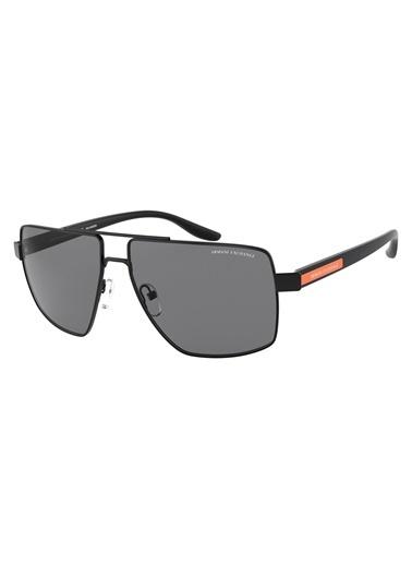 Armani Exchange Ax2037S 600081 60 Polarize Erkek Güneş Gözlüğü Siyah